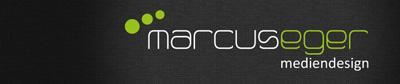 Logo marcuseger mediendesign