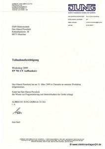 JUNG FP 701 CT Aufbaukurs