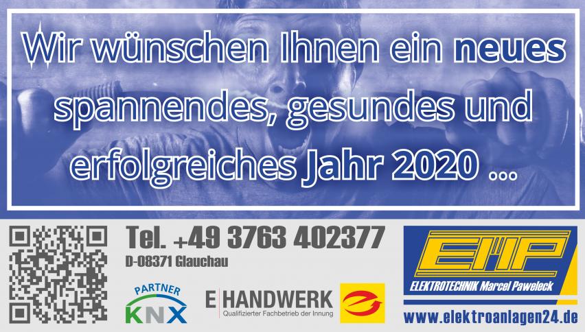 Wir wünschen Ihnen ein neues, spannendes, gesundes und erfolgreiches Jahr 2020 ... www.elektroanlagen24.de