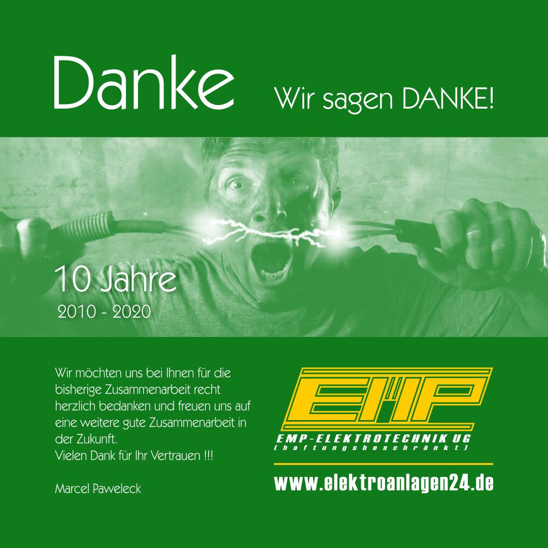 10 Jahre 2010 - 2020 | 10 Jahre EMP-ELEKTROTECHNIK UG (haftungsbeschränkt)