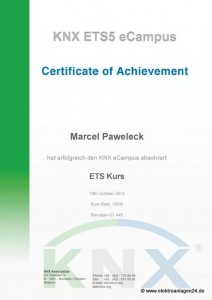 KNX ETS5 eCampus certification